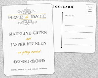 Fly Me to the Moon - Postcard - Save-the-Date