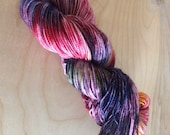 Berry Explosion Rock Creek Hand Dyed Sock Yarn - Moon Stone Farm