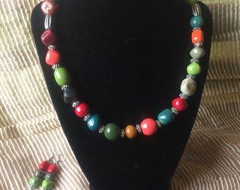 Handmade KAZURI jewelry set