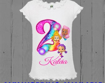 Bubble Guppies Girls Birthday Shirt - Tank Top Available