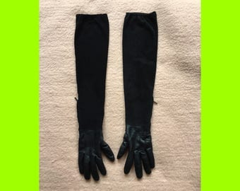 ACNE 90s black leather gloves 7.5