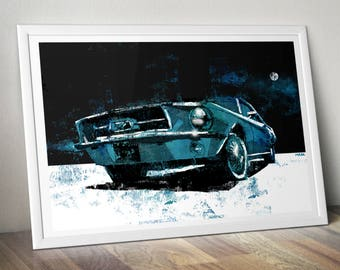 1968 Ford Mustang 390 GT A4 Print