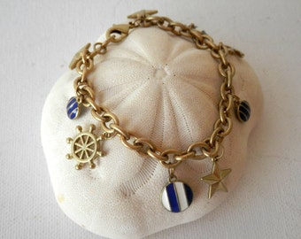 Nautical Jewelry, Anchor Bracelet, Nautical Bracelet, Cruise Wear