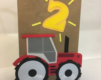 Tractor birthday, tractor party, tractor party decorations, tractor theme party, tractor favor bags, tractor treat bags