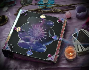 Made to Order Cosmos Book of Shadows / Astrology Spellbook / Vintage Astronomy Journal / Galaxy Diary / Celestial Sun Moon Grimoire / Binder