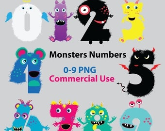 50% SALE Fluffy Monster numbers clipart, monster numbers, monster clipart, monster clip art, alien numbers, cute monster numbers, alphabet,