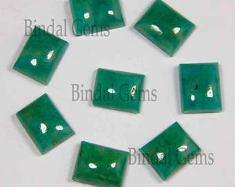 10 Pieces Finest Quality Lot Natural Amazonite Octagon Shape Smooth Polished Gemstone Cabochon