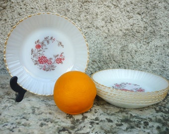 six white milk glass Termocrisa bowls