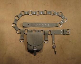 Chilean Air-Whale Hide Adventurer's Belt Combo Kit (Steampunk Starter Package) #968