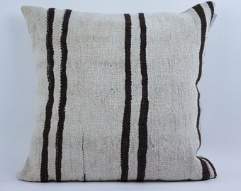Turkish Hemp Pillow Case-- Striped