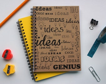 Ideas Ideas Ideas Genius -  5 x 7 journal