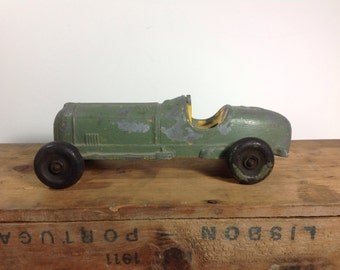 Vintage Hubley Kiddie Die-cast Race Car #5 Made In USA Chippy