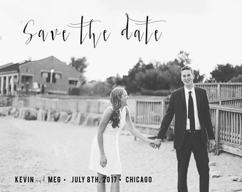 "Save the Date Postcard, Custom, 5"" x 7"""