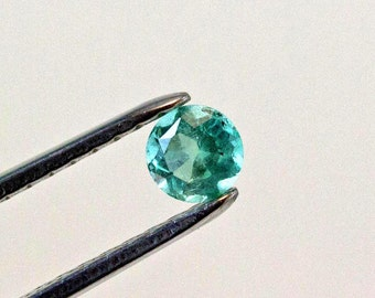5.5mm Round Cut Natural Colombian Emerald Loose Gemstone