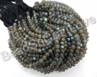 labradorite  Plain Or Smooth Round Beads, 4/6/8 mm     AAA quality