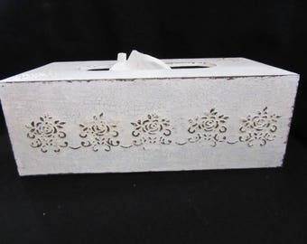 Shabby tissue box cover