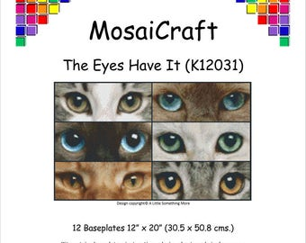 MosaiCraft Pixel Craft Mosaic Art Kit 'The Eyes Have It' (Like Mini Mosaic and Paint by Numbers)