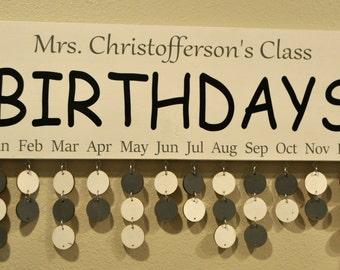 Classroom Birthday Board, Classroom Birthday Calendar, Birthday Organizer