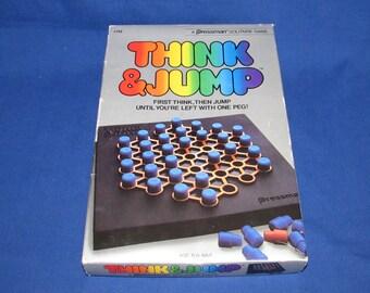 THINK AND JUMP 1984 Pressman Games Board Game