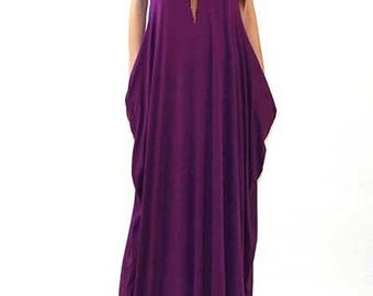 Teeshirt Maxi, Festival Long Dress, Pixie Maxi, Purple Maxi, Thin Strap Maxi, Purple Tee Maxi, Resort Maxi, Beach Maxi, Women's Clothing,
