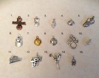 Sport and School Charms By the Piece