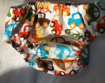 Diaper Cover, bloomers, 0-3 Months, Cars, baby accessories