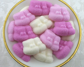 28 Pink & Ivory Baby Bootie Shaped Sugar Cubes for Baby Shower, party favor