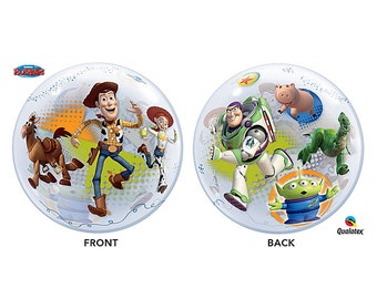 "22"" Toy Story Woody and Buzz bubble balloon party decoration"