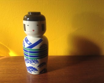 Japanese Sake Doll Bottle and Cup