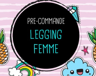 Presale / / Legging cotton woman lycra, Rose lines white patch, pineapple, diamond, girly, doodle, summer, summer