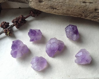 Tibetan Amethyst Crystal Set - Elestial Amethyst - Set of 6 pcs, 45+ grams