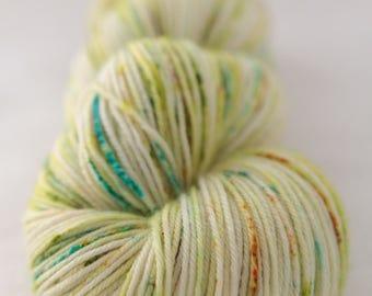 Hand-dyed yarn - sock yarn - superwash - merino - dyed-to-order - speckles - PRINTEMPS