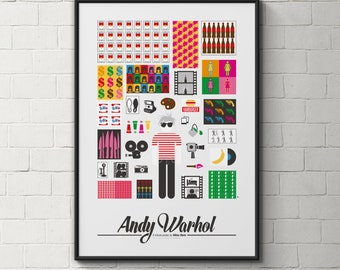 Andy Warhol pictogram poster