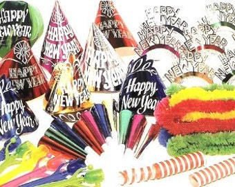 Creative Converting New Years Eve Multicolor Party Kit for 20