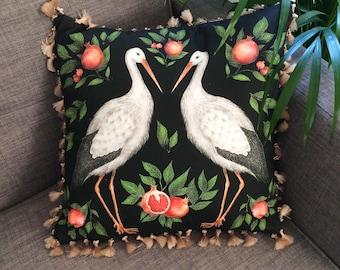 Storks & Pomegranates Cushion
