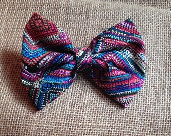 Colorful boho bow