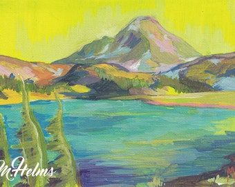 Print or Note Card: Mountain Lake