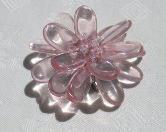 Retro Acrylic Flower Pale Pink Brooch TLC