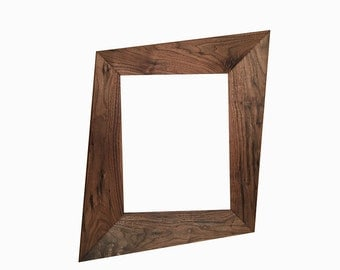 Forced Perspective Trapezoid Picture Frame, Mid Century Mirror Frames