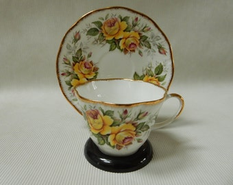 Devon Roses China Teacup and Saucer
