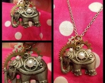 Steampunk Elephant Necklace