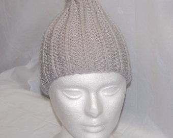 Light Gray Knitted Hat