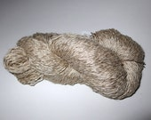 100% linen yarn - upcycled natural-colored fingering yarn - knitting/crochet yarn