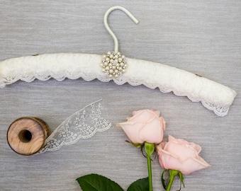 White Lace Wedding Hanger, Lace Wedding Dress Hanger, Wedding Hanger, Lace Bridal Hanger, Wedding Hanger, Bridal Hanger
