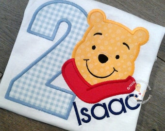 Second Birthday Bear - 2nd Birthday Bear Applique - Bear Applique Design - for Embroidery Machines