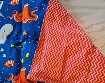 Lap pad, small weighted blanket, finding dory, ready to ship, 2lbs weight, dementia, autism, ADHD,  cp,