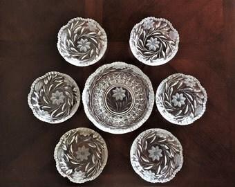 RARE Morgan Pattern c.1900 Serving Bowl Set 7 Pieces