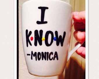 F•R•I•E•N•D•S mug- I know- monica - How you doin- You're my lobster - friends- funny valentines day mug - monica and chandler