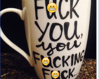 Mature eff you mug. Effin f*** coffee mug.  funny coffee mug - best friends coffee mug Gifts for brother gifts for coworker gifts for dad