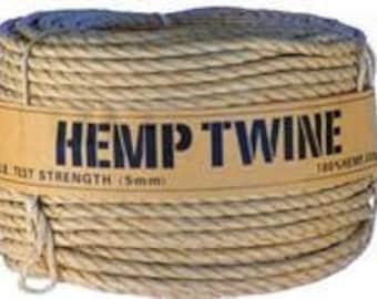 5 mm Hemp Twine Cord Rope